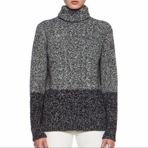Vince Color Twist Turtleneck Sweater Wool/Yak
